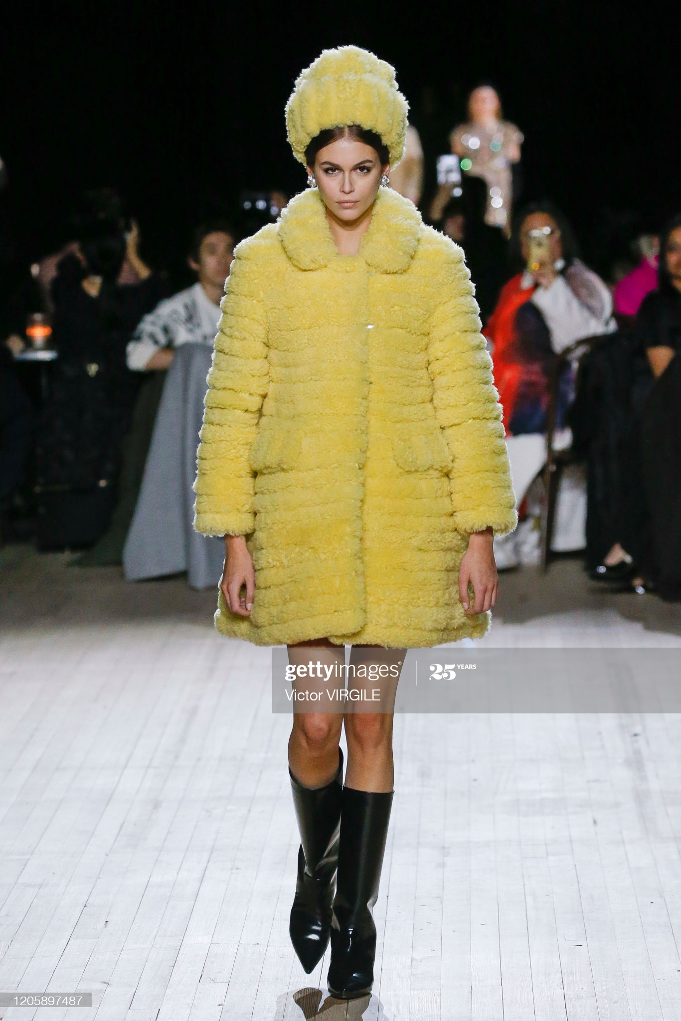 NEW YORK, NEW YORK - FEBRUARY 12: Kaia Gerber walks the runway at the Marc Jacobs Ready to Wear Fall/Winter 2020-2021 fashion show during New York Fashion Week on February 12, 2020 in New York City. (Photo by Victor VIRGILE/Gamma-Rapho via Getty Images)